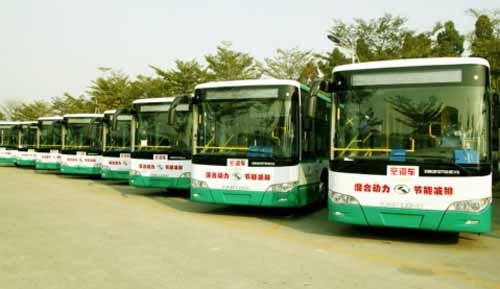 45辆大金龙混合动力公交车开赴昆明