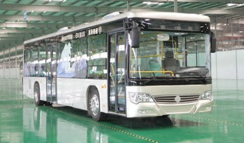 珠海银隆集团生产的银通电动客车-珠海银隆集团获石家庄900辆纯电动高清图片