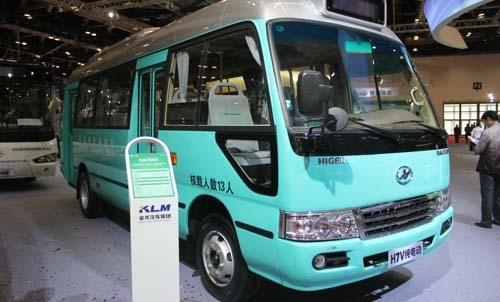 """海格推出h7v""""双胞胎""""完善纯电动客车领域的产品布局"""