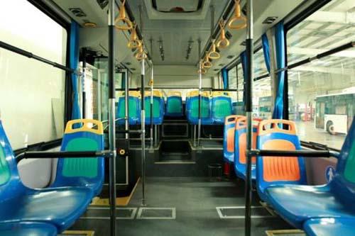 进首批100台比亚迪纯电动公交车高清图片
